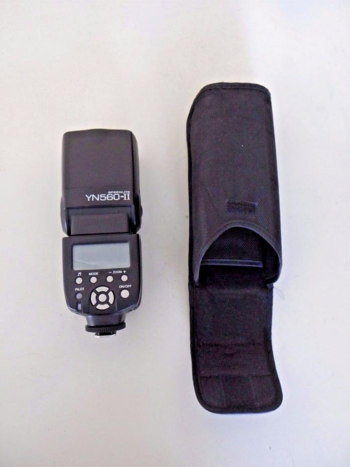 Yongnuo Digital Speedlite YN560-II Flash For Canon & Nikon W/Case