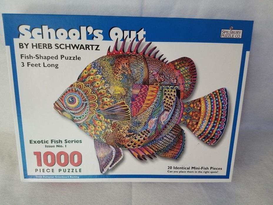 Exotic Fish Puzzle Spilsbury Co. 1000 pcs -- 3 FEET LONG - NEW (open box)
