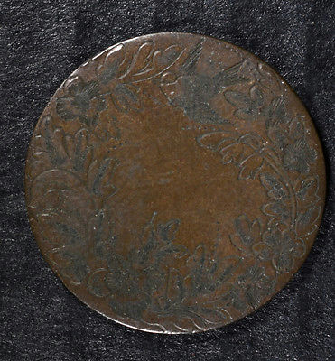 FANCY LOVE TOKEN STRUCK ON CANADIAN LARGE CENT