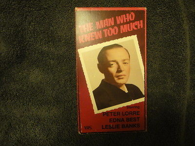 The man who knew to much VHS Peter Lorre