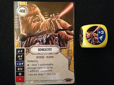 Bowcaster (SoR) - Star Wars Destiny Singles - Near Mint Card and Die
