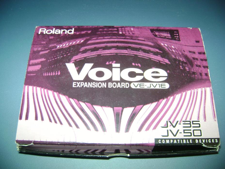 Roland Voice Expansion Board VE-JV1E for JV 35 50 etc keyboard Synth MIDI UNUSED