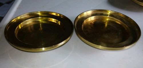 Pair (2)  Brass Candle Stands/Plates