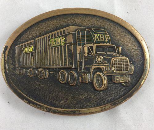 ABF Freight Brass Belt Buckle