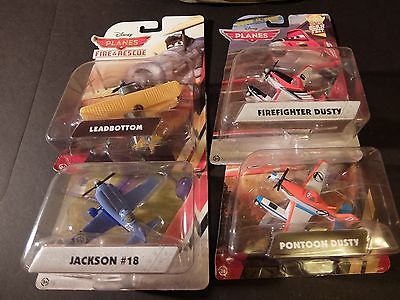 Disney Planes Lot - Firefighter Dusty Pontoon Dusty Jackson and Leadbottom