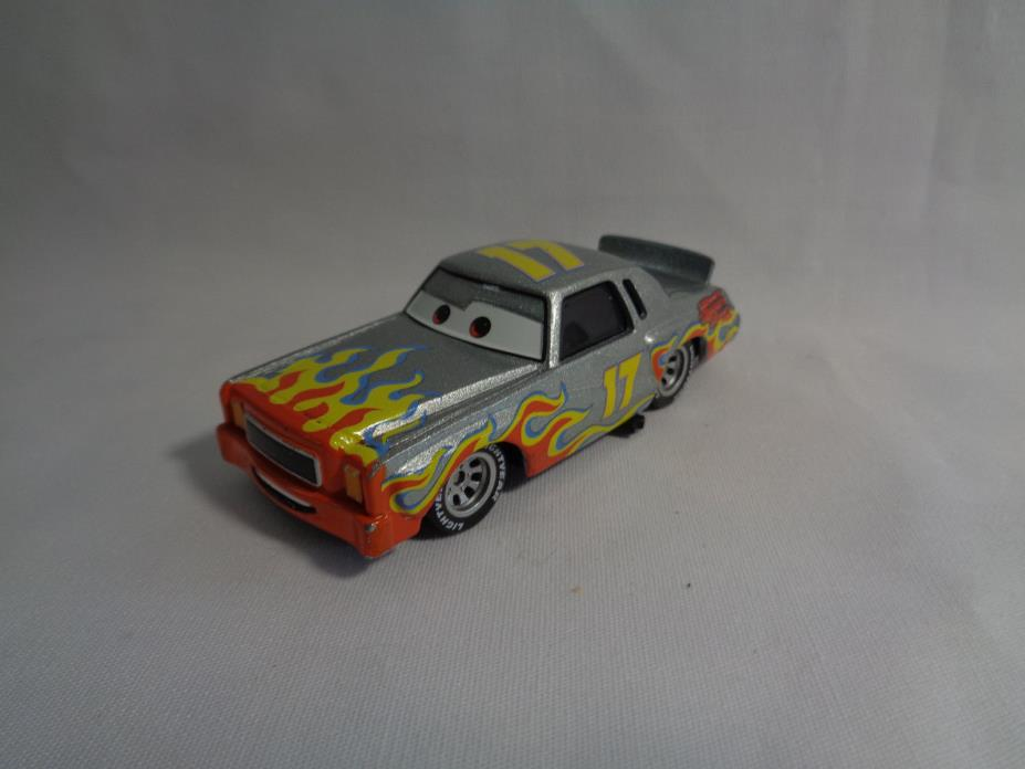 Disney Cars Darrell Cartrip #17 Chase Car Diecast Silver Flames - Rare