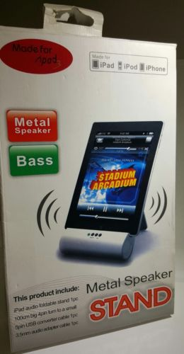 NutzGadget Premium Metal Bass Speaker Stand for iPad3/iPod/iPhone
