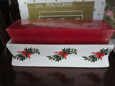 Pfaltzgraff Christmas Heritage~ 4 Wick Brick Candle  Holder - Rare