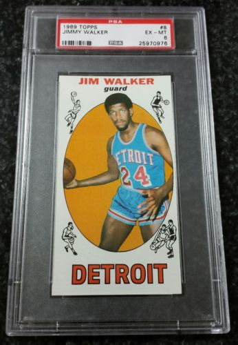 1969-70 Topps #8 Jim Walker Rookie PSA 6 EX-MT