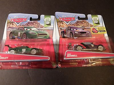 Disney Pixar Cars WGP Lot MAX SCHNELL & NIGEL GEARSLEY