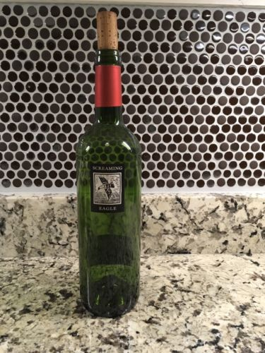 *EMPTY* Screaming Eagle Wine Bottle with Cork 2012 Free Priority Shipping!