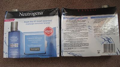 2 Neutrogena Oil-Free Eye Makeup Remover 5.5 oz & 2 Cleansing Towelettes 25 ct