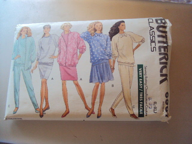 Butterick Miss Jacket Top Pants Pattern 6967 UNCUT 16-22  Vintage Free Shippin