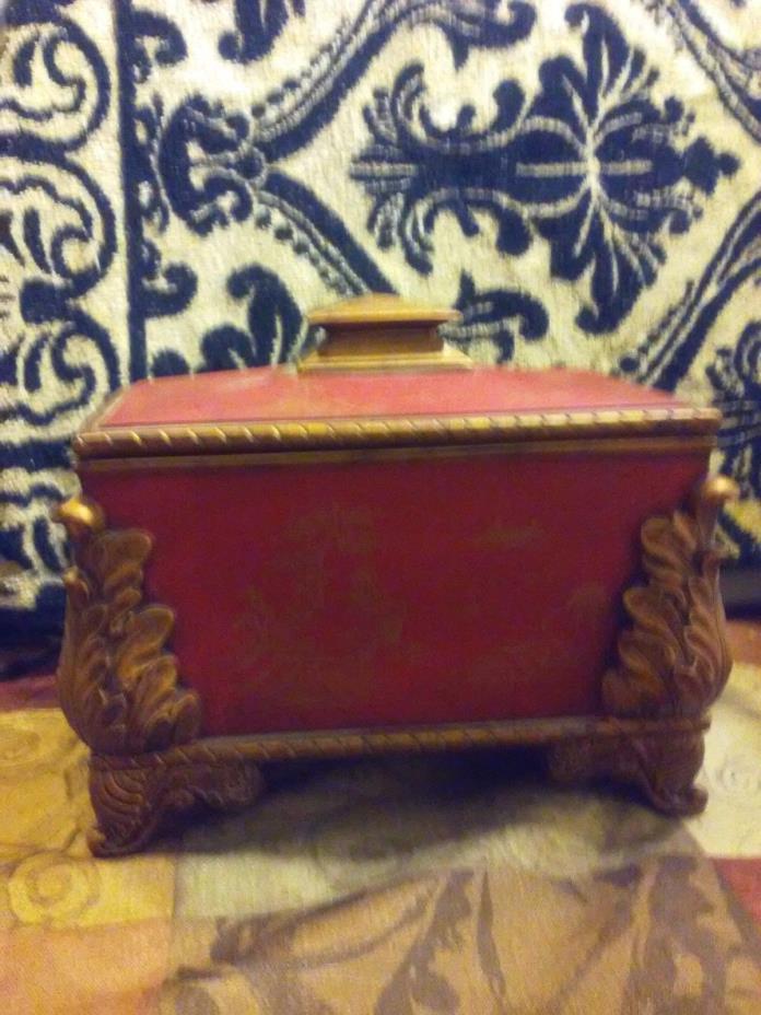 Red&Gold Vintage Oriental  design keepsake box