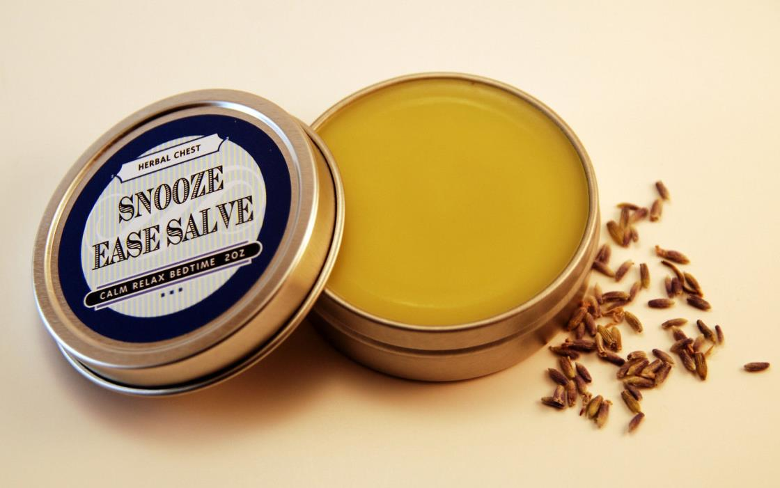 Natural Calming Relax Sleep Bedtime Salve, Stress Relief Balm, FREE SHIPPING