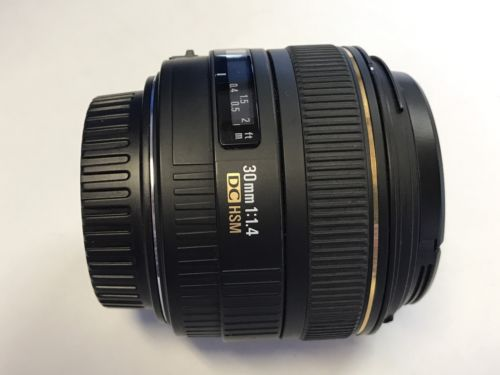 Sigma AF 30mm f1.4 EX DC HSM Lens 30/1.4 Canon EF