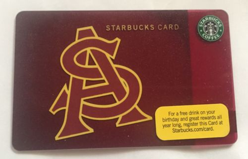 2010 Starbucks Gift Card. ARIZONA STATE UNIVERSITY. New. Worldwide shipping.