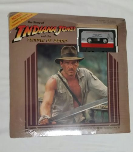 Indiana Jones and the temple of doom complete album on cassette/photo book