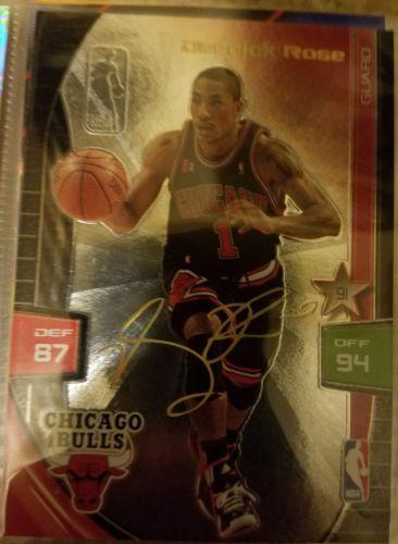 2009-10 Adrenalyn XL Derrick Rose RC Ultimate Foil Gold Signature *Bulls