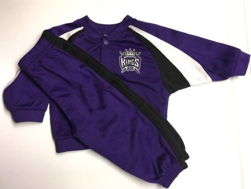 NBA Sacramento Kings 12M Baby Boy Button Up Jacket Pants Jump Track Suit Set