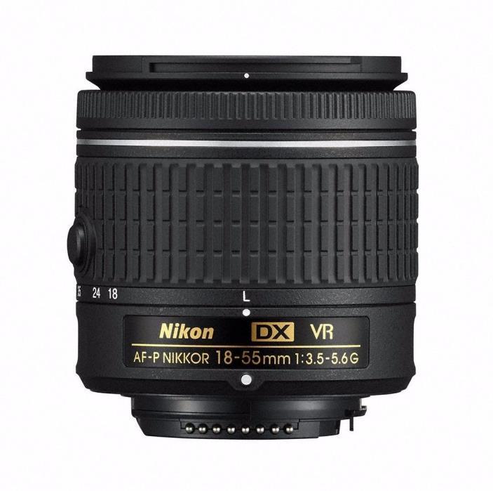 Nikon AF-P DX NIKKOR 18-55mm f/3.5-5.6G VR DSLR Camera Lens (NEVER USED, no box)