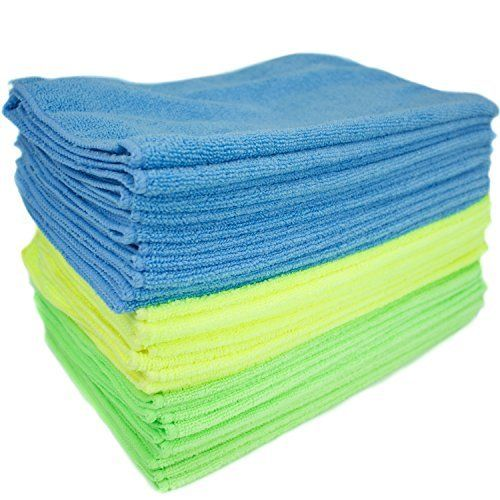 Cleaning Cloths Washable Microfiber Lint Streak Free Zwipes (36-Pack)