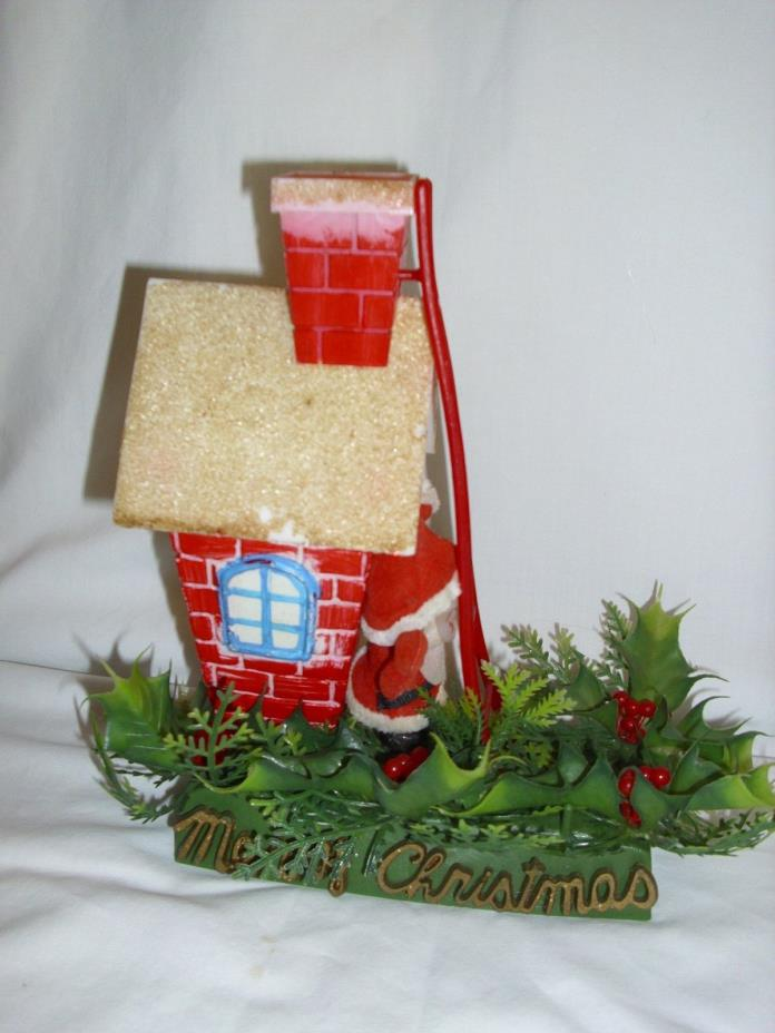 Vintage Hong Kong Plastic Christmas House Decoration Santa