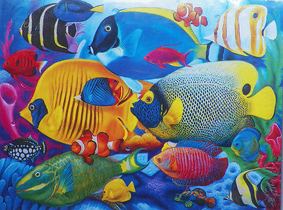 PUZZLE...JIGSAW....ART....FERGUSON....Fish School...500 Pc...Sealed
