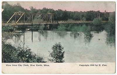 View of Bridge from City Park, Blue Earth, Minnesota 1908