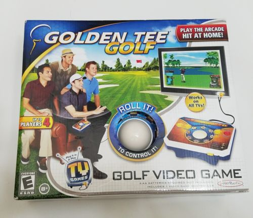 NIB Jakks Pacific Golden Tee Golf Electronic TV Games Plug and Play - Brand New