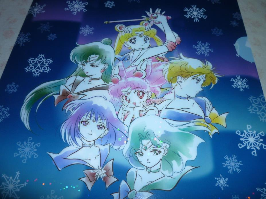 Sailor moon ITS DEMO Prism Stars Sparkling Glitter Shinny File Folder Holder # 4