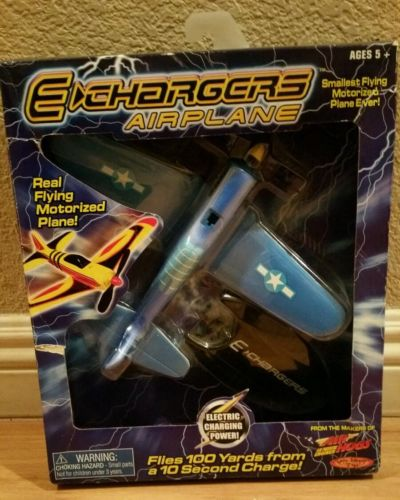 2001 E Chargers Airplane Spin Master Toy /No Remote Flies 300ft Quick Charger