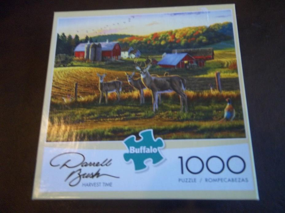 Buffalo 1000 piece puzzle:  Harvest Time Sold as is.