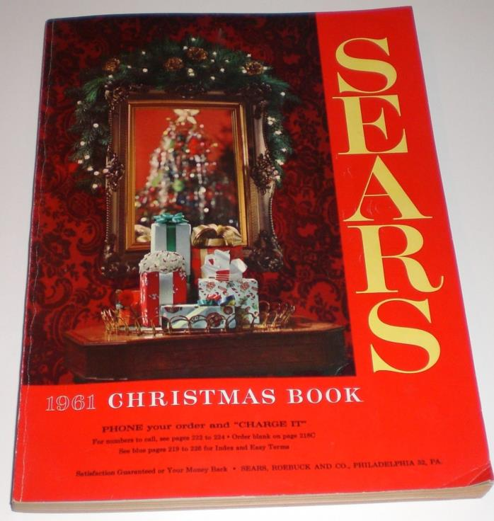 Sears Christmas Catalog 1961 Vintage Toys Disney Trains Pedal Games Fashion Home