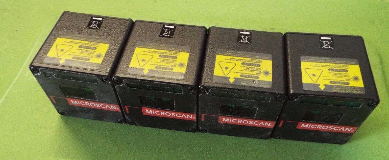 a lot of 4 Microscan Industrial Barcode Scanner 467714AD FIS-0520-0145 @N3
