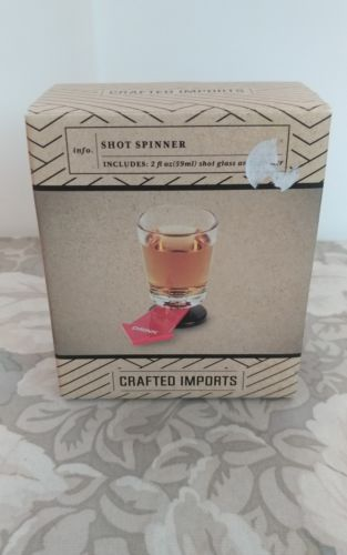 NIB Shot Spinner/ Shot Glass by Crafted Imports