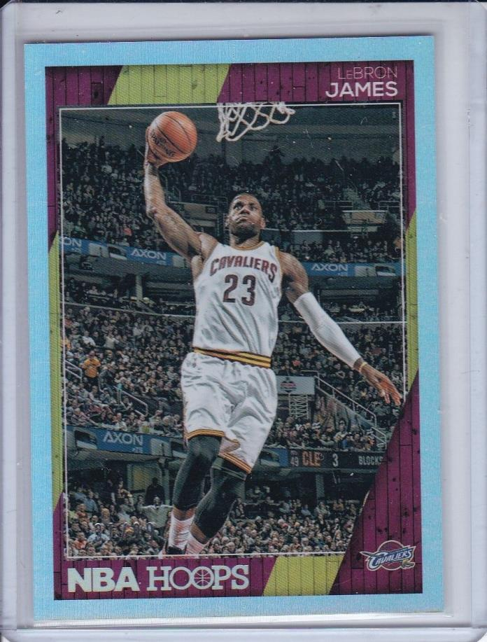2016-17 NBA HOOPS LEBRON JAMES 31/99 SILVER #17 NBA CHAMPS CAVALIERS 4X MVP NEW