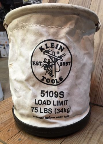 NEW Klein Tools 5109S Canvas Aerial Tool Bucket  Lineman