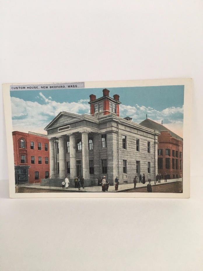 New Bedford, Mass MA ~custom house pc near mint 1920s