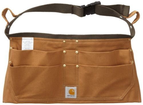 Carhartt Men's Duck Nail Apron Small Medium A09BRN Bag Belt Tool Nail Pouch