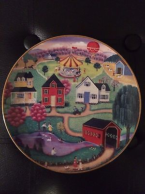 American Folk Art Collection Steven Klein Spring Fair  Limited Edition Plate