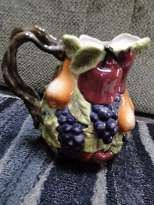 Home Interiors Sonoma Villa Pitcher Fruit Design Vine Handle