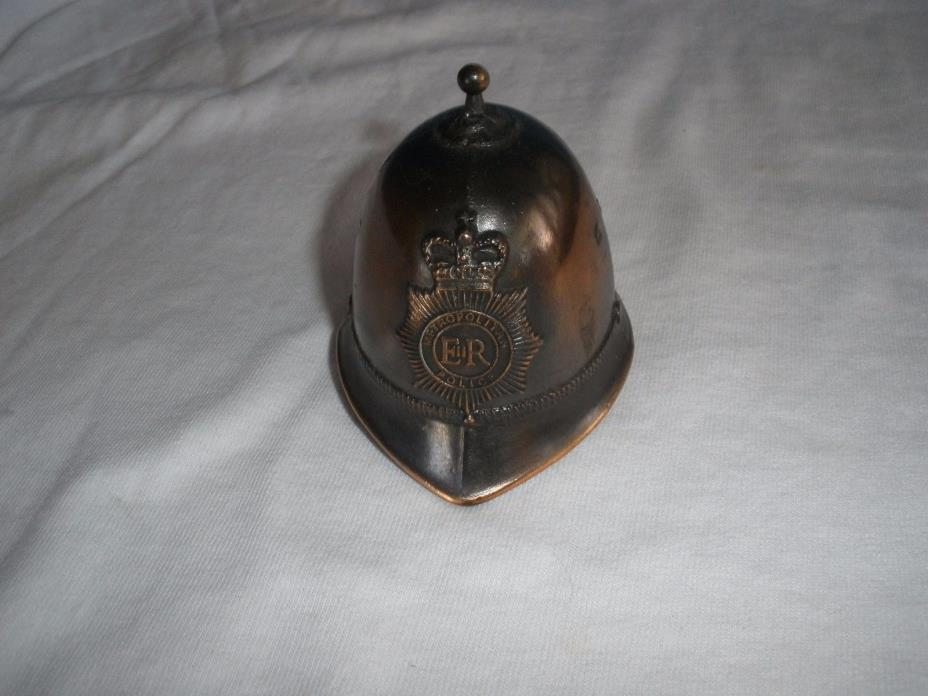 Vintage Metropolitan Police E R Helmet / Hat Bell Made In England Copper Brass ?