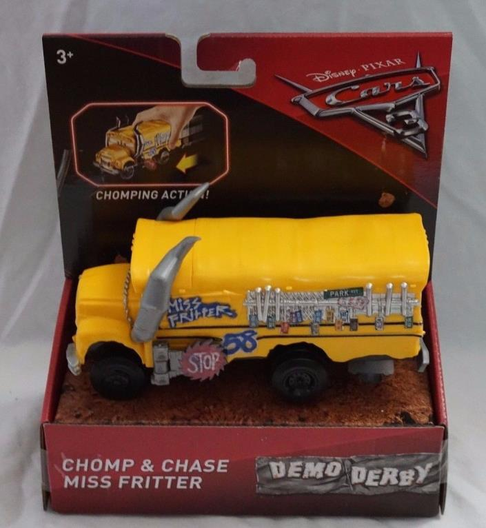 Disney Pixar Cars 3 Demo Derby Chomp & Chase Miss Fritter NEW Mattel 2017