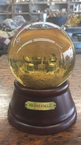 RARE HEINZ FIELD MUSICAL SNOW GLOBE PITTSBURGH PA