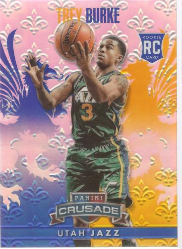 Trey Burke Crusade 13-14 #211 Blue Crusade Prizm Rookie Card Utah Jazz