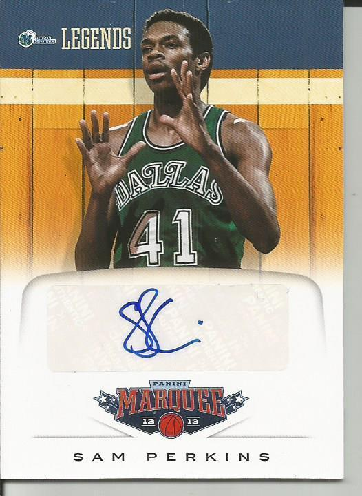 2012-13 Panini Marquee Legends Signatures #31 Sam Perkins