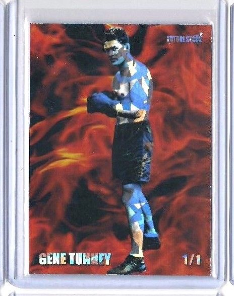 Gene Tunney Future Stock Boxing Card - REFRACTOR - Limited Serial 1/1