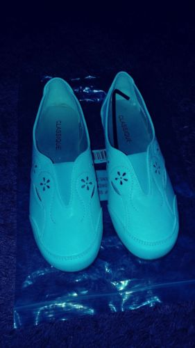 White Classique loafers, women 9W, new with bag, NEW REDUCTION!!!!