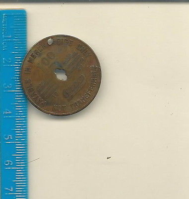 AF-041 - Gibson Fuel Co Blackwood VA Coal Mining Script Token $ 1.00 Vintage